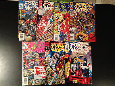 Force Works Comic Lot 7 Issues Marvel Comics Iron Man Spider Woman