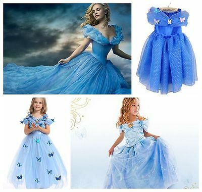 Déguisement Cinderella Princess Girl Kids Dress Cosplay Party Fancy Dress Gift