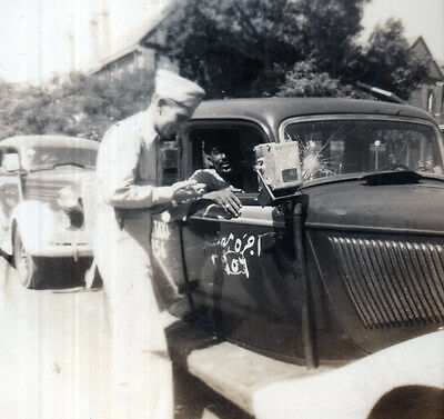 Taxi Cab - Cairo Egypt - Neat Meter Outside - Broken Windshield - Ww2 Photo
