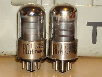 2 Rca (Sylvania) 6Sj7Gt Matched Vintage Tubes Usa - Tested Very Strong