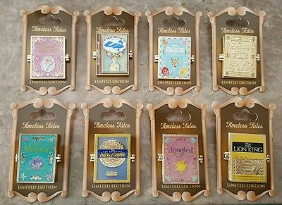 Disney Timeless Tales Pin Set Complete Ariel Rapunzel Alice Limited Edition