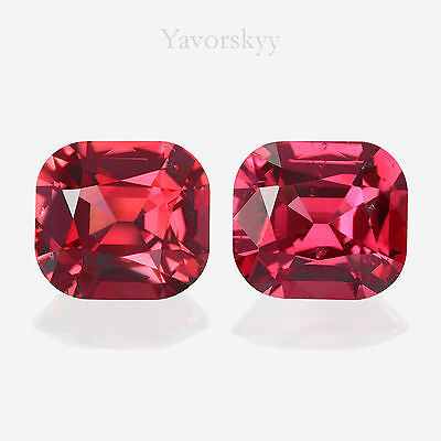 RED SPINEL Matched pair Yavorskyy-cut 1.24 ct / 2 pcs
