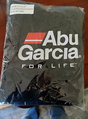 Abu Garcia For Life Hoodie Size 2XL Hooded Sweatshirt Embroidered Black and Red