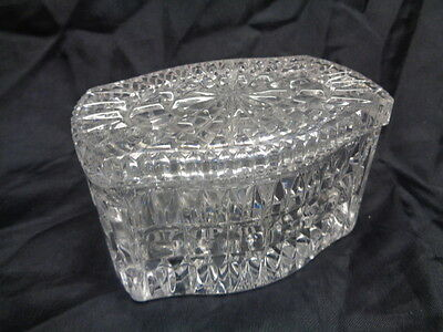 Vintage Ornate Clear Crystal Lidded Candy Serving Dish Bowl