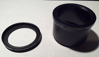 Kodak 39mm to 37mm Adapter Tube & 37mm to 43mm Step-up Ring