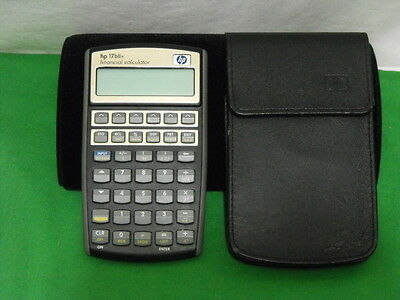 Hewlett Packard Hp 17Bii+ Financial Calculator With Case And Pdf Manual Working