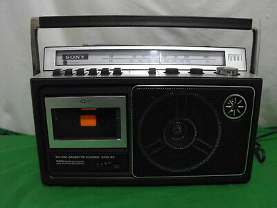 Sony Cfm-23 Am Fm Cassette Recorder Boombox Vintage 1985 Japan Tested Working