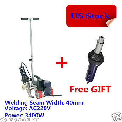 USA 40mm Plastic Hot Air Roofer Welder for Thicker Tarpaulins Banner and Roofing