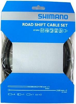 Workshop Made Shimano OT-SP41 Road Stainles Shift Cable Set Gear Y60098022 BLACK
