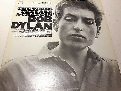Bob Dylan- The Times They Are A Changin  Rare 1st Cdn Stereo Vinyl Lp