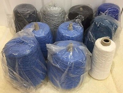 """Cone Yarn Lower Price 10 New Cones 9 Lbs 0 0Z Yarn Country """"serenade"""" Lot C 29"""