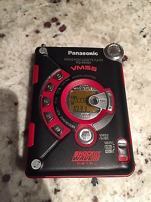 Panasonic Stereo Radio Cassette Player RQ-SW99V Shock Wave Metal Red Tested!