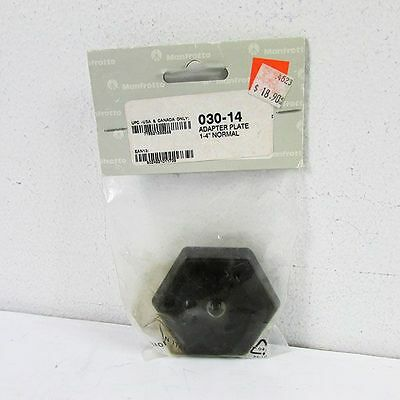 Manfrotto 030-14 Replacement Hexagonal Quick Release Adapter Plate NEW