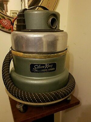 Vintage Silver King Canister Vacuum Cleaner Model AE 157801