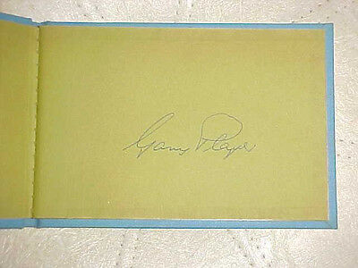 Gary Player Autographed Book U.s. Open 1970