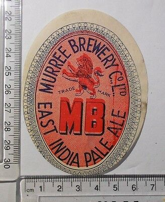 India Beer Label Lot   #906