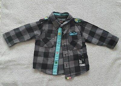 Baby Boy Next Size 3-6 months Long Sleeve black checkered shirt VGC