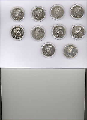 2001 10 coin Set 50 cent Federation coins U/C in Capsules