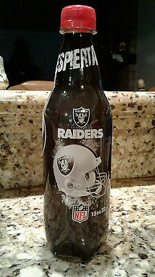 Oakland Raiders  pepsi plastic bottle limited edition ....EMPTIED, from Mexico.