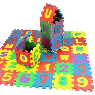 36Pcs Baby Child Number Alphabet Puzzle Foam Maths Educational Toy Gift Cute New