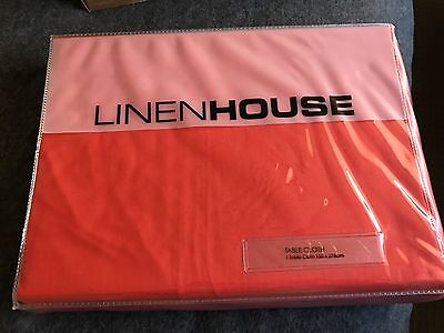 Linen House Coral Table Cloth