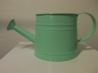 Watering Can metal Mint Green color holds 4 cups of water