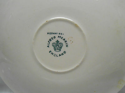 VINTAGE ALFRED MEAKIN BLUE MEDWAY DECOR LOT OF 4 Plates  Transferware pottery