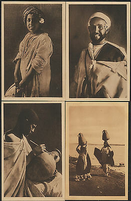 k2280)     4  x  VINTAGE - OLD POSTCARDS FROM EGYPT-- EGYPTIAN PEOPLE