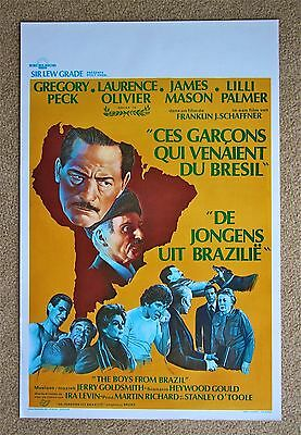 4.99 $ SALE The Boys from Brazil Gregory Peck VINTAGE ORIGINAL Belgian poster