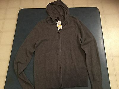 Michael Kors Men's Medium Gray Full Zip Hooded Sweatshirt Brand New