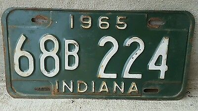Origianl Indiana 1965 License Plate