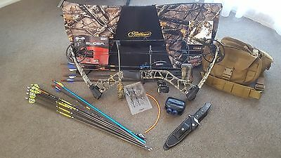 Mission Riot Compound Bow L/H Hunting Package with Knives, 5.11 Bag, extras