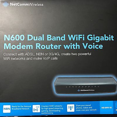 Netcomm N600 Dual Band Wifi Gigabit Modem Router with Voice NBN Ready