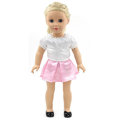 "Fits 18"" American Girl Madame Alexander Handmade Doll Clothes white dress MG040"