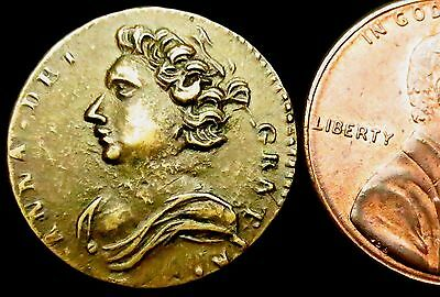 S578: Queen Anne Coin Weight, 1702-14, Half Guinea at 4.14g