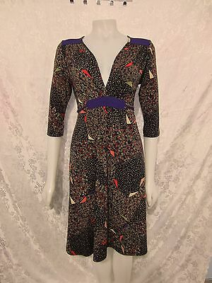 "Gorgeous  ""LEONA EDMISTON RUBY"" ¾ Sleeve Print Dress Size 1 / 12"