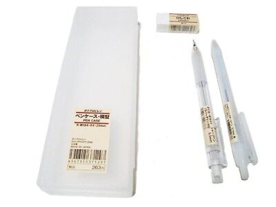 MUJI Stationery Set [Pen Case+Eraser+pen+pencil+Ruler]