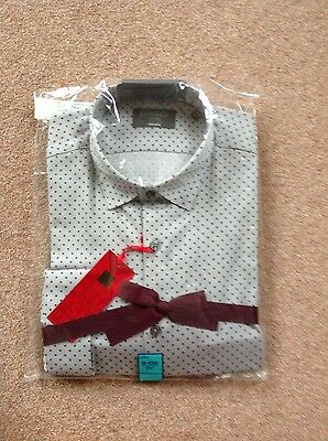 M & S limited edition size 15.5 grey long sleeved shirt
