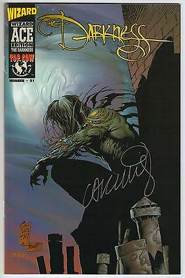 DARKNESS WIZARD ACE EDITION #1 signed by Garth Ennis! 1997 Top Cow