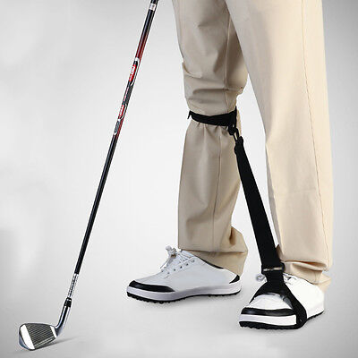 Golf Leg Correction Strap Beginner Gesture Corrector Practice Training Aid New