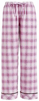 PETER ALEXANDER PJS Womens PINK CHECK Pants XS/S/M/XL BNWT Flannelette Cotton PJ
