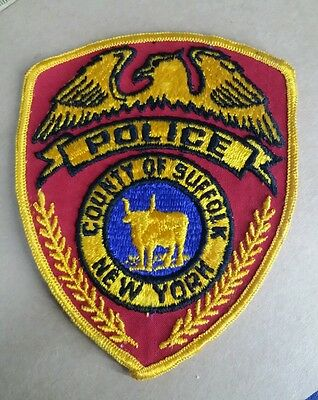 Vintage County Of Suffolk, New York Police Shoulder Patch Ny