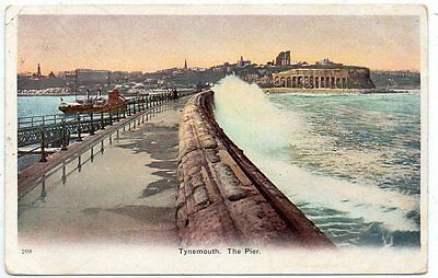 """""postcard The Pier,tynemouth,tyne & Wear,dated 1903"""""