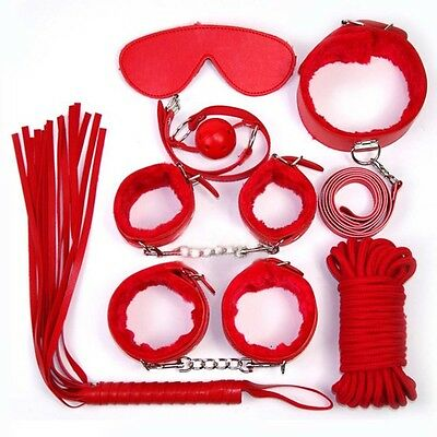 7pcs/set Game Leather Handcuffs Toy Restraint Under Bed Games New Arrivel Hot