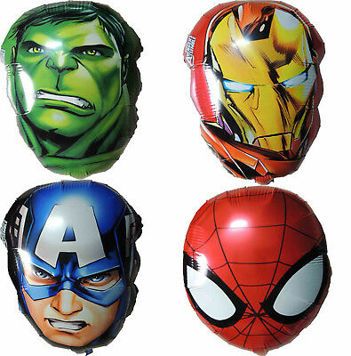 Air Fill Avengers Balloon Superhero Birthday Party Decoration Lolly Bag Filler