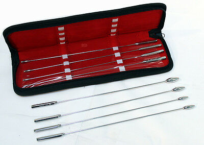 8 Pcs Bakes Rosebud Uterine Urethral Dilator With a Carrying Case