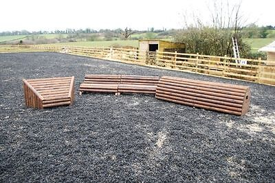 set of 3 cross country xc jumps by Bristol Show Jumps