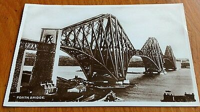 Vintage Postcard - THE FORTH BRIDGE FROM SOUTH QUEENSBURY