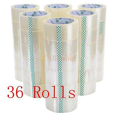 "36 Rolls 1.77"" x 55 Yards Carton Sealing Clear Packing/Shipping/Box Tape"