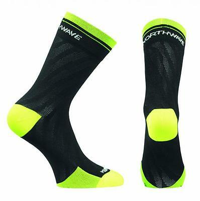 NORTHWAVE Calcetines ciclismo mujer LOGO WMN negro/amarillo fluorescente
